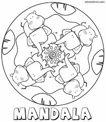 Mandala For Kids Hippo And Elephant
