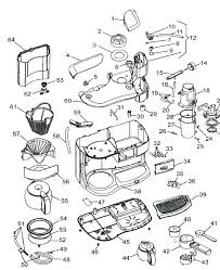 Keurig Coffee Maker Parts Diagram Plus Accessories Compact Single Serve