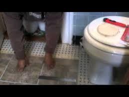 installing peel stick tile in the bathroom youtube