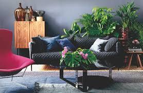 wandgestaltung wohnzimmer der jungle look das haus