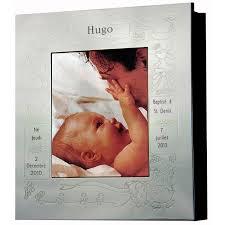 cadre photo bapteme personnalise cadre photo album thème baptême personnalisable métal