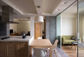 Glass Partitions Rational Interior Zoning Cute Design Idea Of Kitchen Separating From Living Zone