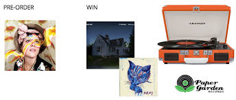 Win a record player from Paper Garden Records & Crosley Insound