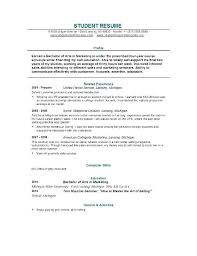 Examples Of Resume For Students College Undergraduate N