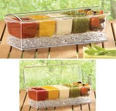 Outdoor Party Icy Condiment Server With Lid