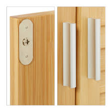badezimmerschrank lamell bambus schrank badschrank telefonschrank schränkchen