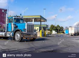 100 Day Cab Trucks For Sale Shiny Blue Classic American Bonnet Day Cab Big Rig Semi
