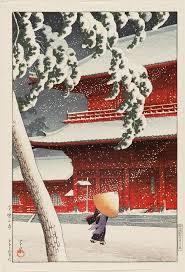 Kawase Hasui 1883 1957 Twenty Views Of Tokyo Shiba Zojo Temple ShibaJapanese PrintsJapanese