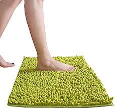 sunglow badeteppich 150x50 cm lange badematte badvorleger für badezimmer teppich läufer himmlich weich grün