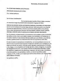 Wilmar Valdez Presentó Su Carta De Renuncia A La AUF