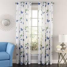 Boscovs Window Curtains by Butterflies Print Rod Pocket Semi Sheer Panel Boscov U0027s