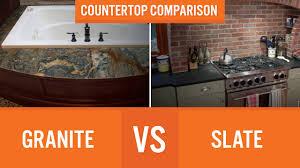 granite vs slate countertop comparison