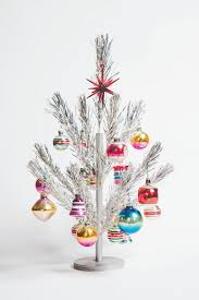 A Miniature Aluminum Christmas Tree With Vintage Shiny Brite Ornaments Both Late 1950s To Early 1960s Photo By Jeffrey Stockbridge