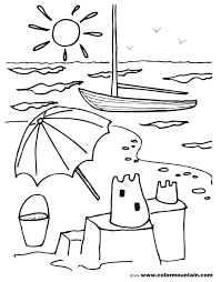 Coloring Pages Printable Sandcastle Sand Castle To Print Summer Page