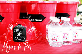Firetruck Invitations And Party Favors - Maison De Pax