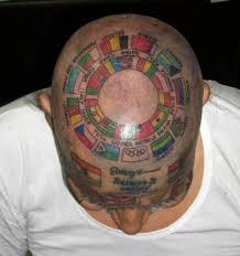 Awesome Flag Tattoo On Head