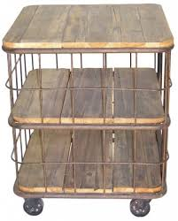 canap sur roulettes meuble de rangement bout de canapé table d appoint bois recyclé