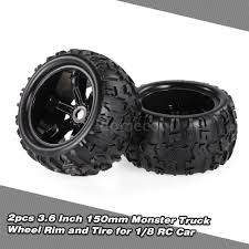 100 Truck Tires And Wheels 2pcs 36 Inch 150mm Wheel Rim And Tire For 18 Traxxas HSP