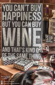 Kitchen Decor You Cant Buy Happiness But Can Wine