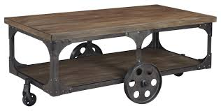 Home Decor Liquidators Fairview Heights Il by Signature Design By Ashley Vennilux Factory Cart Style Rectangular