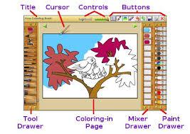 Kindergarten Kea Coloring Shapes