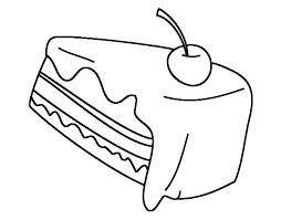 e Cherry on Top of Chocolate Cake Coloring Pages