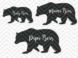 Papa Bear Mama Baby By Kristin Amanda Designs SVG Cut Files