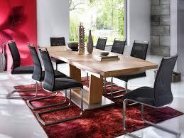 esstischgruppe augsburg i 180 cm eiche massiv 8 stühle schwarz