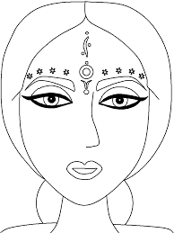 India Bindi Countries Coloring Pages