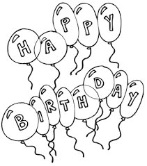 Happy Birthday Spelled Out With Balloons