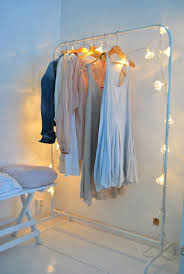 Wardrobe Racks Clothing Rack Tumblr Wooden Clothes Design Nice White Wrought Iron Garment