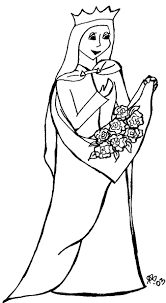St Elizabeth Of Hungary Coloring Page From Coloringsaintsorg