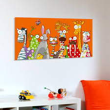 toile chambre tableau toile les animaux rigolos tableaux deco rigolo et les