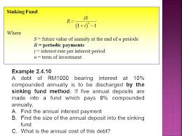 Sinking Fund Formula For Depreciation sinking fund method problems and solutions sinks ideas