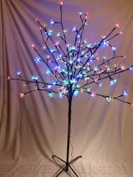 5ft Christmas Tree With Led Lights by 5ft Large Multi Coloured Artificial Christmas Tree Indoor Outdoor