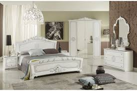 italienisches schlafzimmer in weiss silber 6 teilig