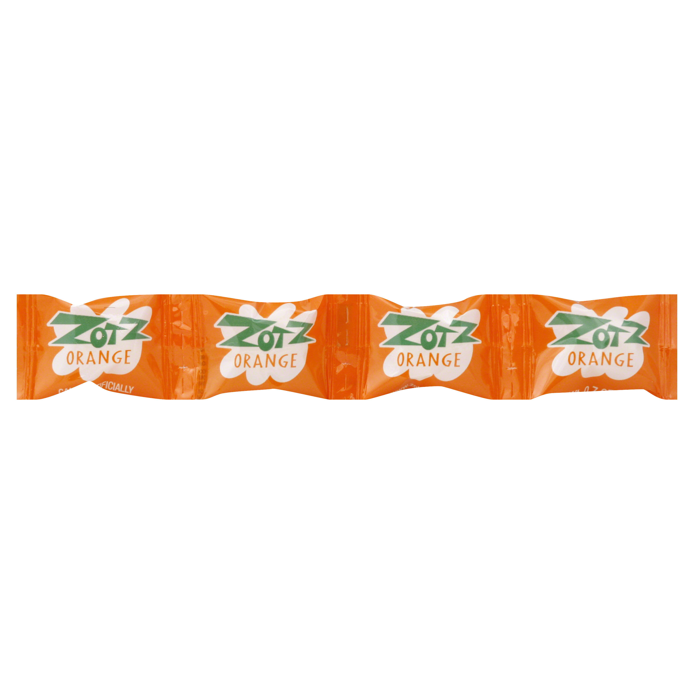 Zotz Candy, Orange - 4 pack, 0.7 oz pieces