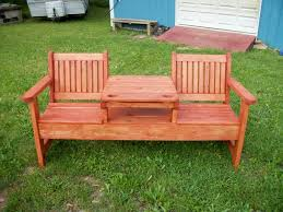 Garden bench and seat pads Cedar Garden Bench Outdoor Wooden