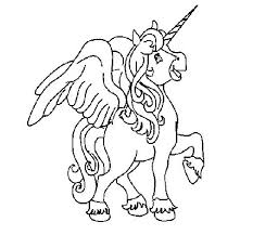 Unicorn With Wings Coloring Pages Plus Page