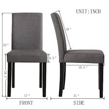 Amazon.com - Set Of 2 Modern Fabric Upholstered Dining Chairs ... Ding Chair Black Leather Kitchen Chairs Buy Fabric White And Room Sets Amazoncom Set Of 2 Modern Upholstered Naples Grey Vintage Pack Two Modish Synnes Black Rouse Home Ashford X Canterbury Lvet Fabric Ding Room Chairs Scroll Top High Back Reed Farmhouse Bri Metal Frame With Arms Colt Low Back Armchair O G Studio 4 Matching Satina With Stud Detail 82 Off Macys Patterned