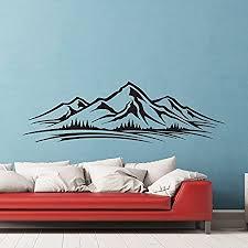 de berge bäume wandtattoo skyline wand vinyl