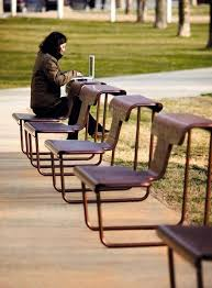 Urban benches with multiple functions El Poeta by BD Barcelona