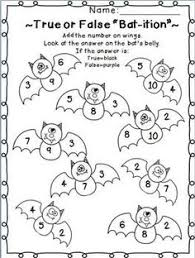 Halloween Multiplication Worksheets Coloring by Color By Number Codes Addition Halloween Puzzles Addition