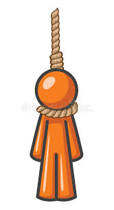 Download Orange Man Hanging Stock Illustration Of Person