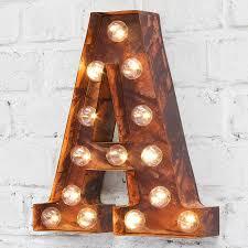 Wooden 26 Letters Alphabet LED Night Light Festival Lights Party