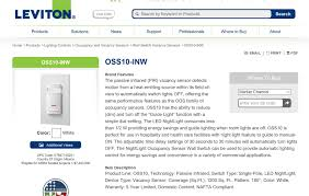 Ceiling Mount Occupancy Sensor Leviton by Leviton Telecom Dropot Com