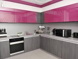 Pink Gray Minimalist Kitchen Color Scheme