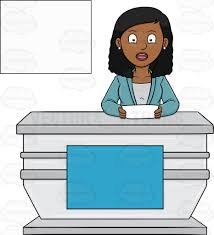 A Black Female News Anchor Reporting The Headlines