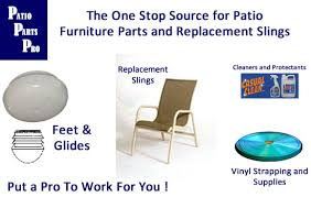 replacement slings and parts for patio furniture