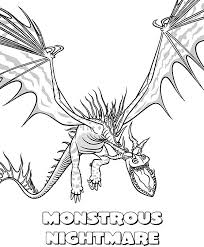 How To Train Your Dragon Coloring Pages Nightmare